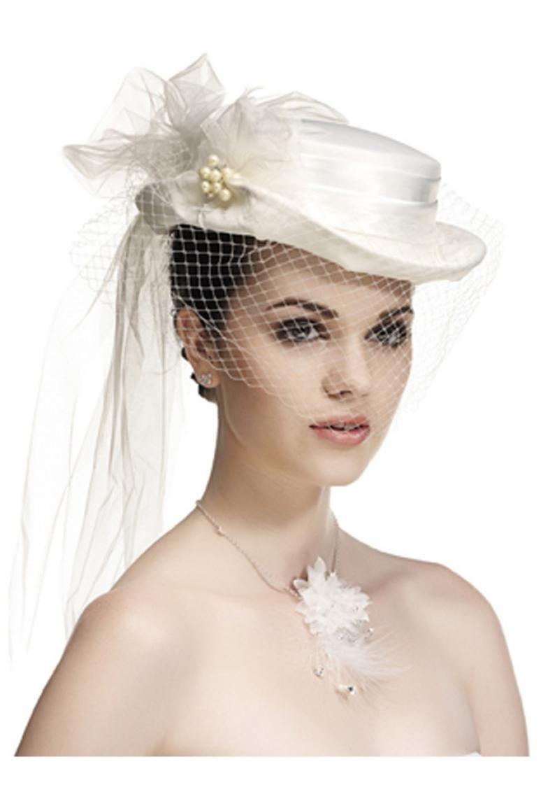 chapeau de mari e avec fleurs et rubans chapeaux chapeaux mariage chapeau c r monie femme. Black Bedroom Furniture Sets. Home Design Ideas