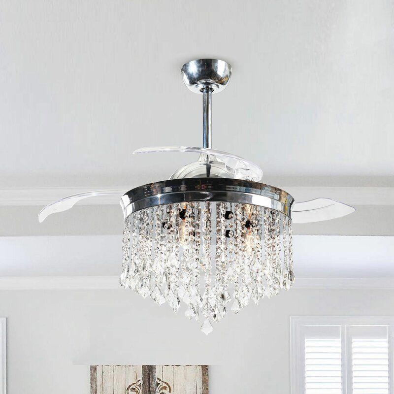 46 Mateo 3 Blade Ceiling Fan With Remote Control In 2020 Ceiling Fan Chandelier Ceiling Fan With Remote Ceiling Fan