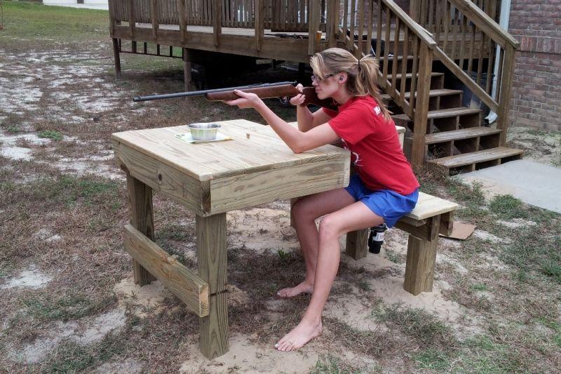 Shooting Bench Shooting bench, Shooting bench plans