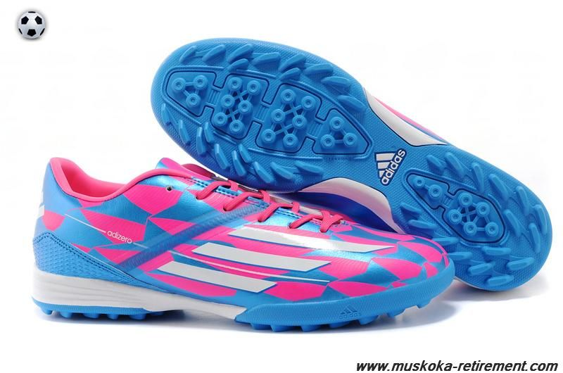 Buy (Pink White Blue) Adidas F50 AdiZero TRX TF For Wholesale Cheap Soccer  Shoes 67d1ebe75