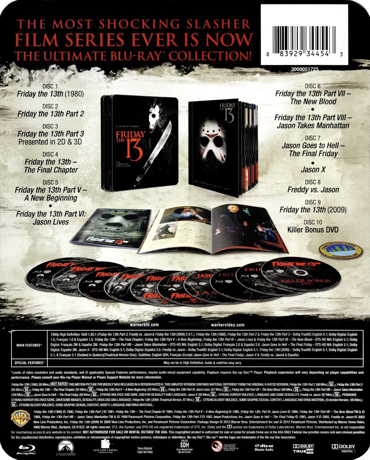 Friday the 13th The Complete Collection Bluray Release