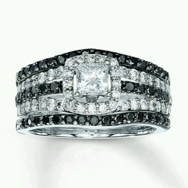 black and white engagement rings kay jewelers 7 - Wedding Rings At Kay Jewelers