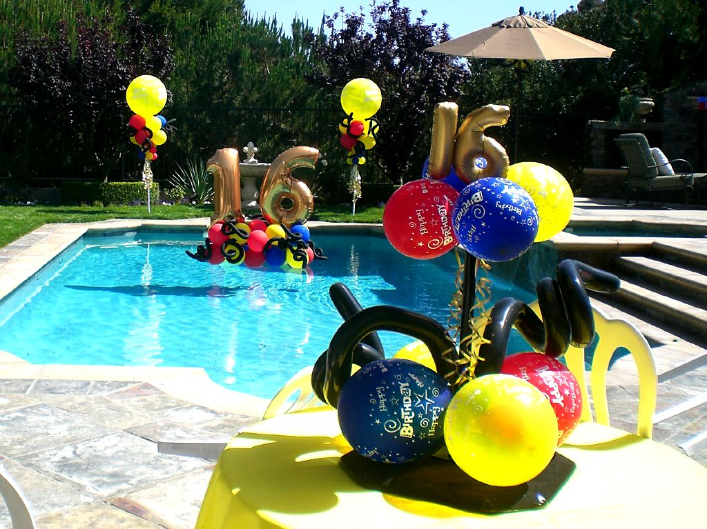 Graduation Pool Party Ideas pool party ideas blog pool party invitations ideas Find This Pin And More On Sweet 16 Balloon Party Decor