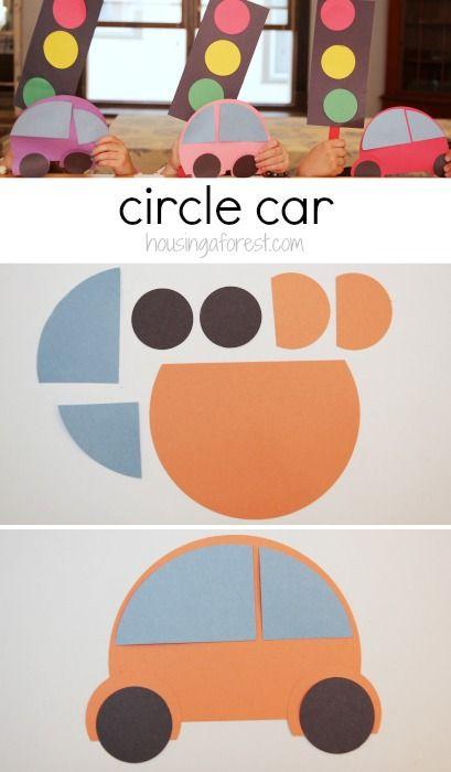 Preschool Transportation Theme ~ How to make a circle car