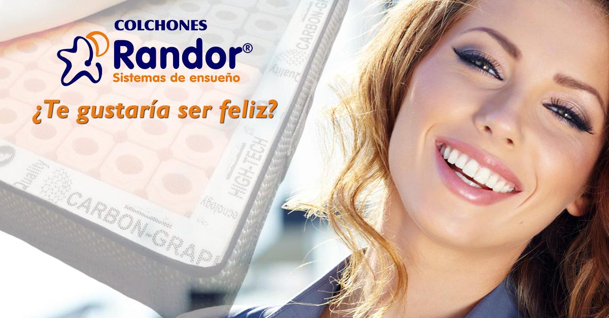 ¿Te gustaría ser feliz? #ColchonesRandor lo hace realidad, ven a nuestra exposición o contacta con nosotros..