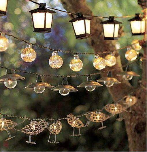 dolce hogar ilumina con guirnaldas garden pinterest