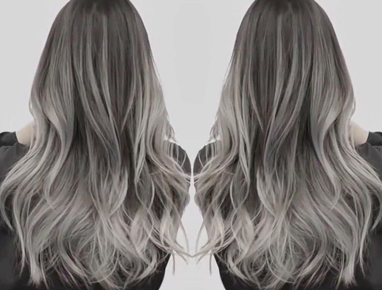 Silver Grey Ombre Hairstyles Silver Ombre Hair