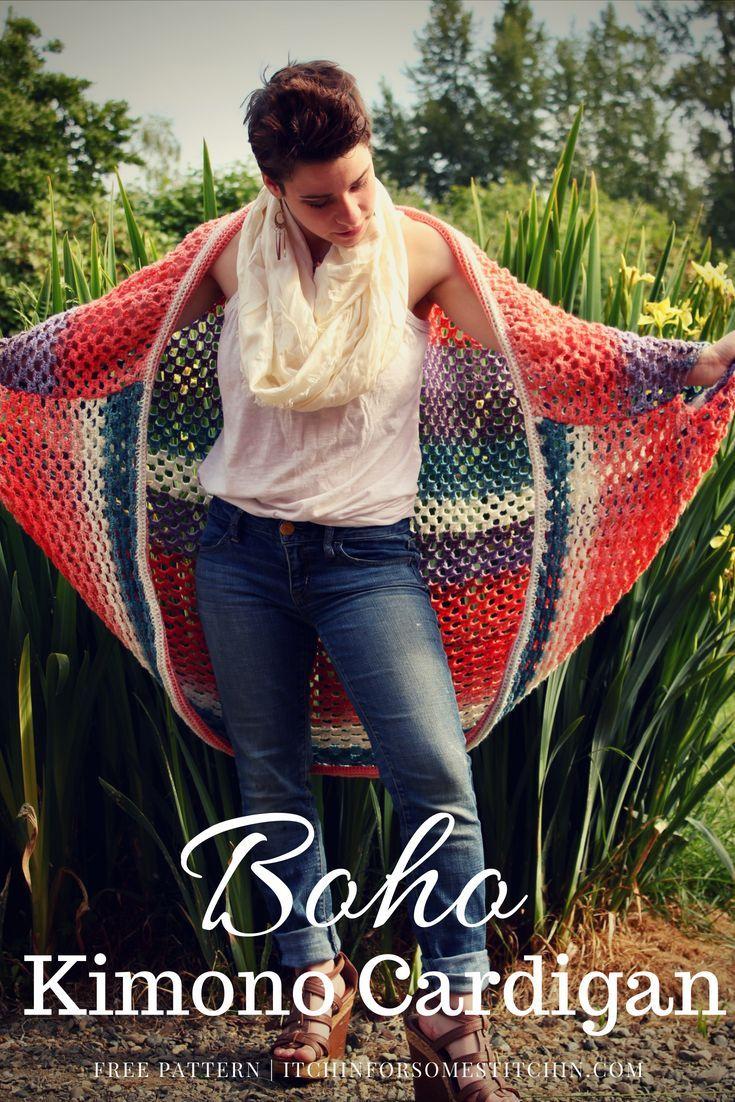 The Boho Goddess Kimono Cardigan   hobby   Crochet ...