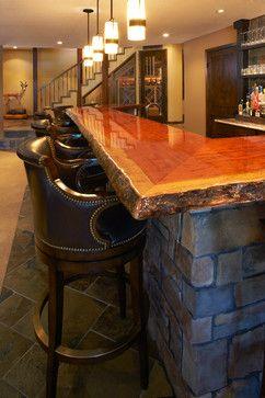 Wooden Bar Tops Natural Wood Bar Top Design Ideas Pictures