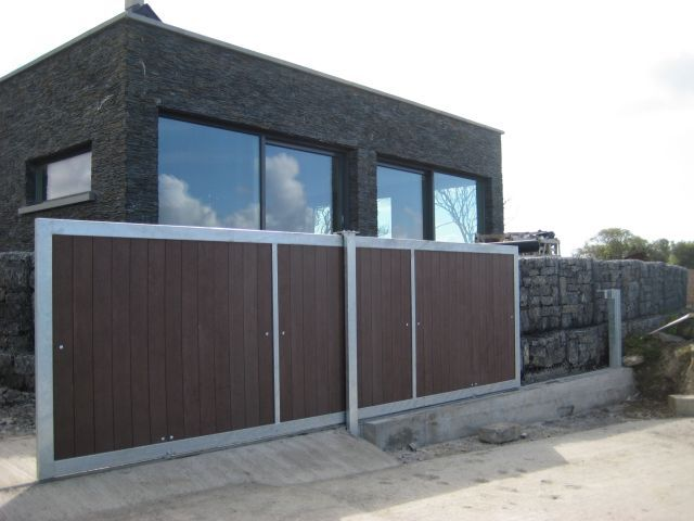 Sliding Gate With Recycled Plastic Sliding Gate Outdoor Decor Patio