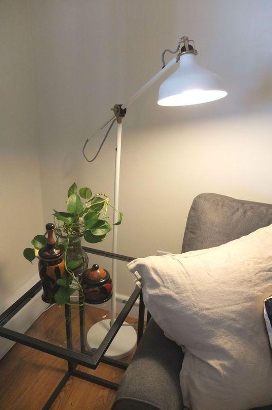 Ranarp Floor Reading Lamp Off White Zoomly Bedroom Lighting
