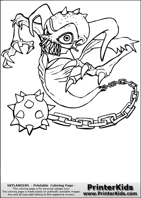 skylanders ghost roaster coloring page