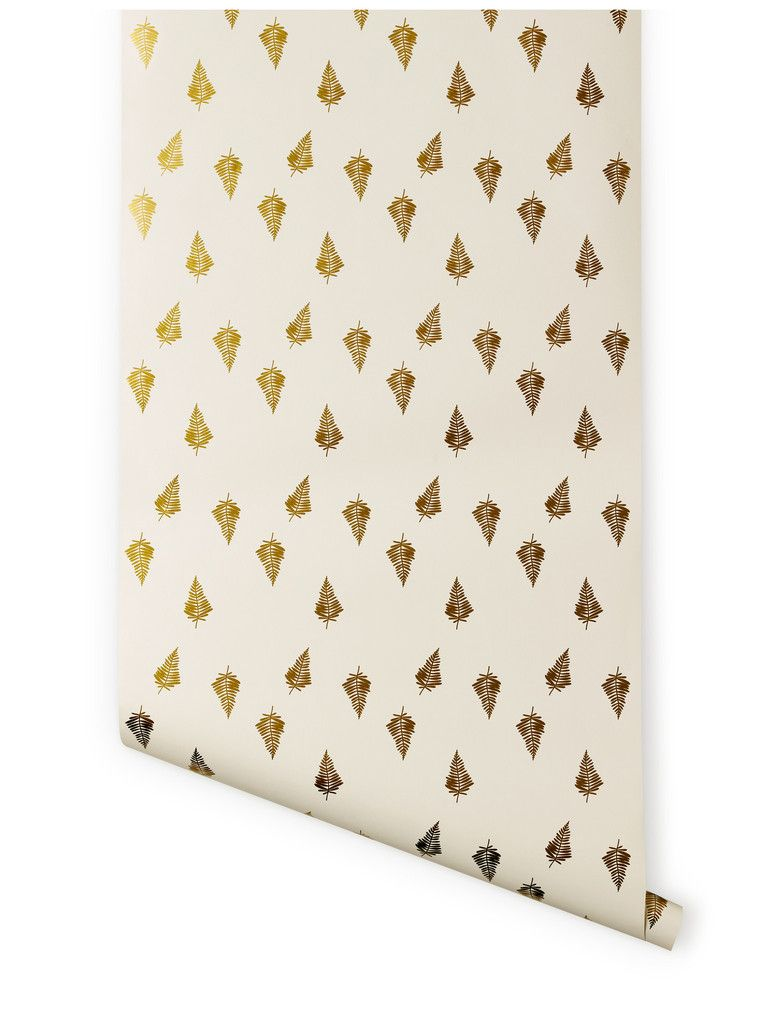New wallpaper deign by Lisa Congdon,   Hygge & West | Ferns (Gold) <3
