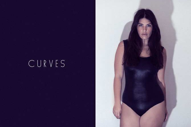 "Model Clementine Desseaux of MUSE Models in ""CURVES"" by Esteban Wautier."