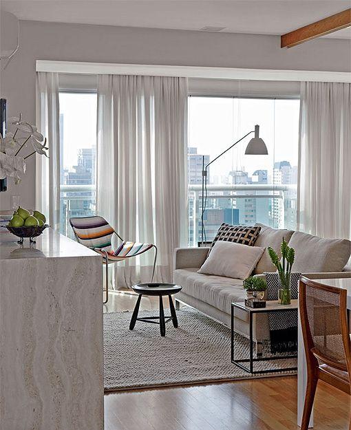 Un piso de 55 m2 bien aprovechados decoratrix for Cortinas departamentos pequenos
