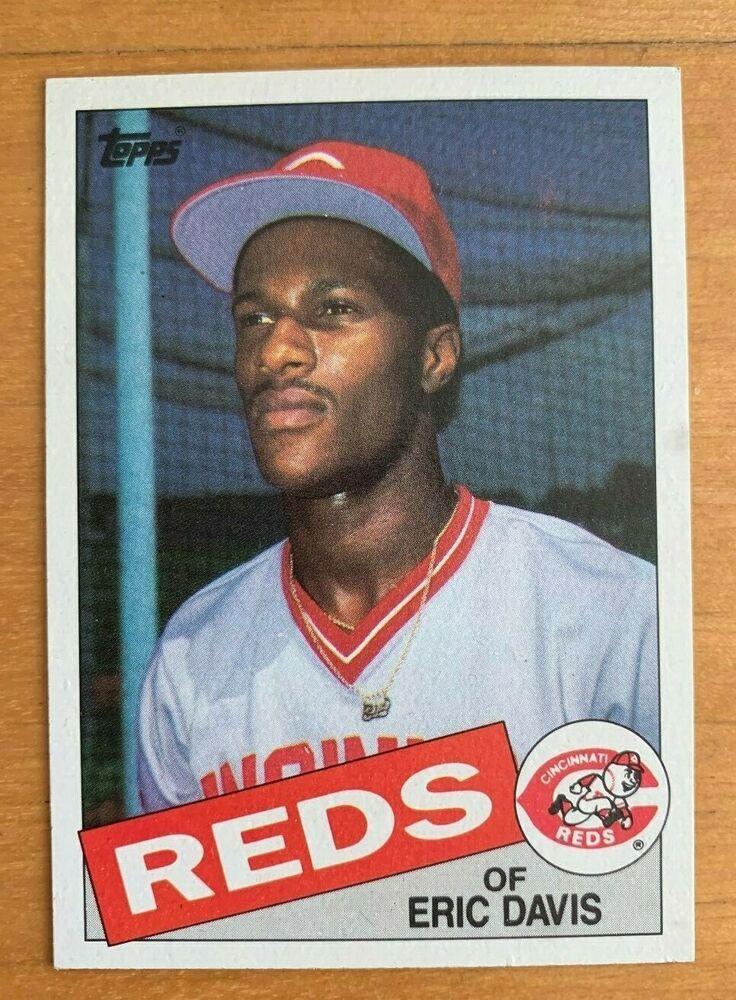 1985 topps eric davis 627 rookie card rc mint centered