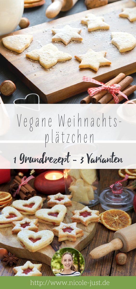 Vegane Weihnachtsplätzchen: Basis Rezept mit 3 Varianten #cinnamonsugarcookies