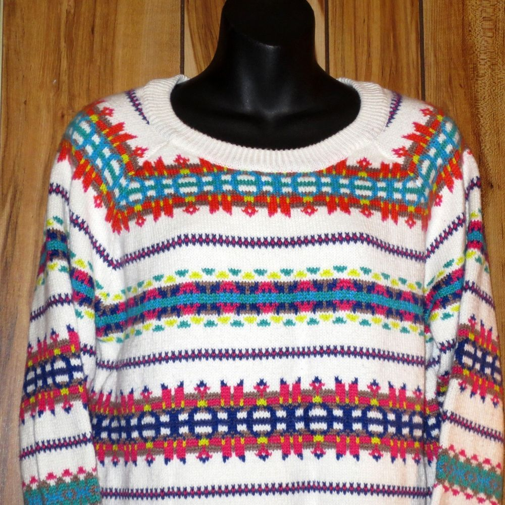 Woman's Ugly Holiday Christmas Crewneck Sweater - Old Navy - Size Large Now $12.87