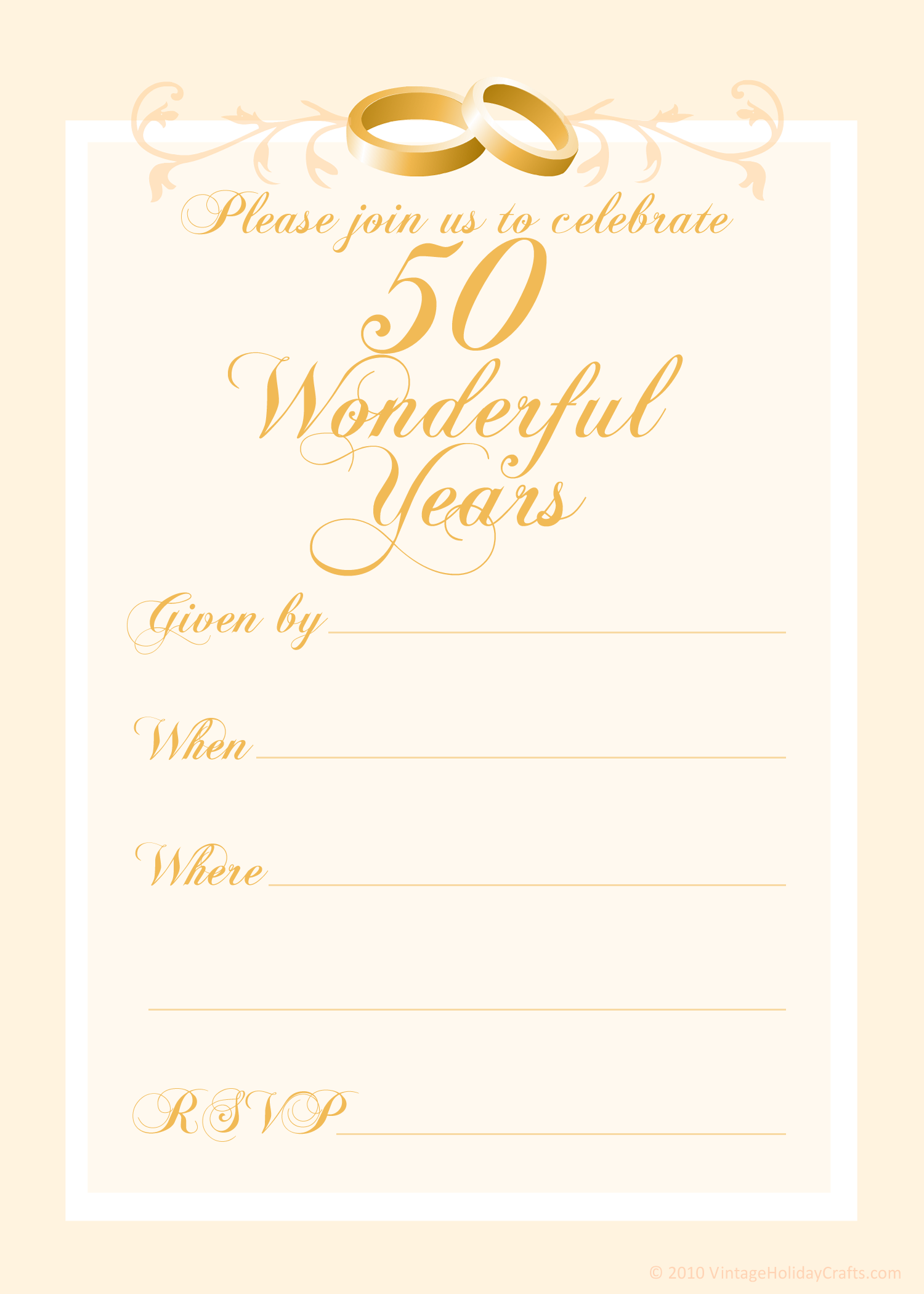 Free 4th Wedding Anniversary Invitations Templates  4th
