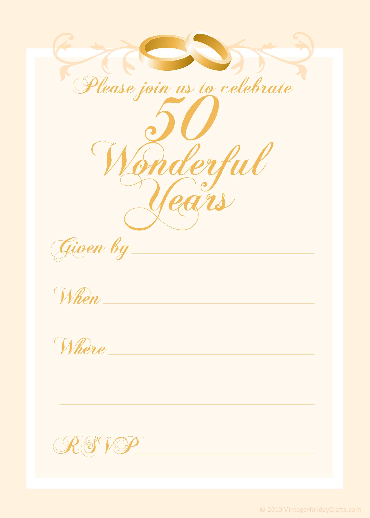 50th Anniversary Templates Free