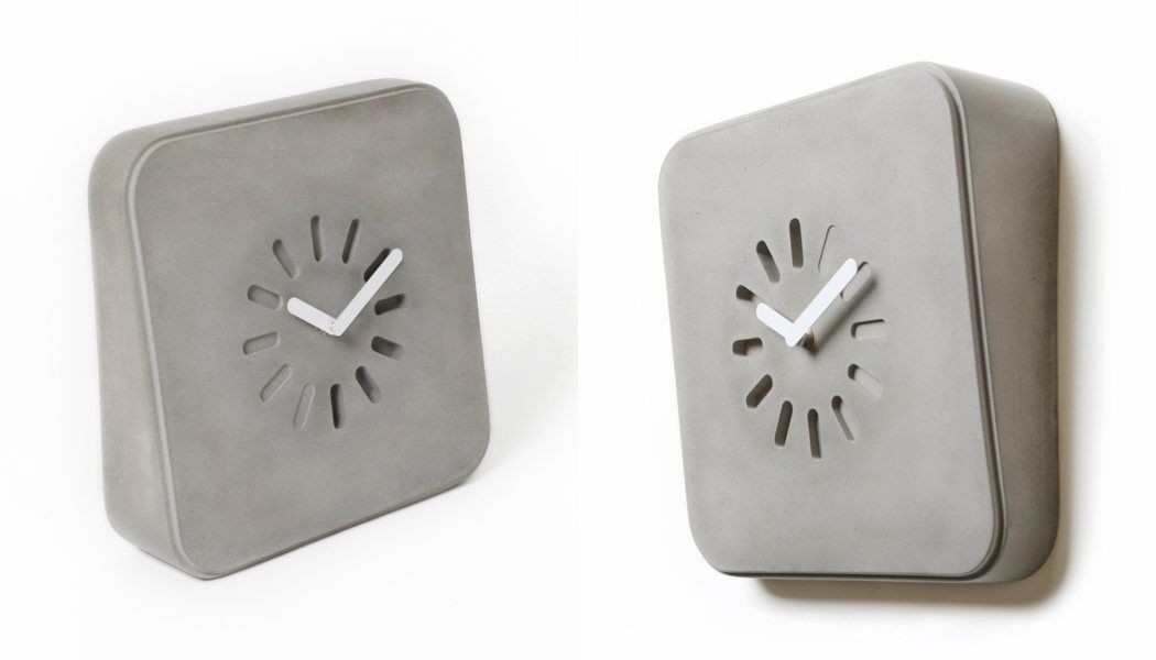 Crafted from beautiful concrete, the LIFE IN PROGRESS clock is built to stand the test of time