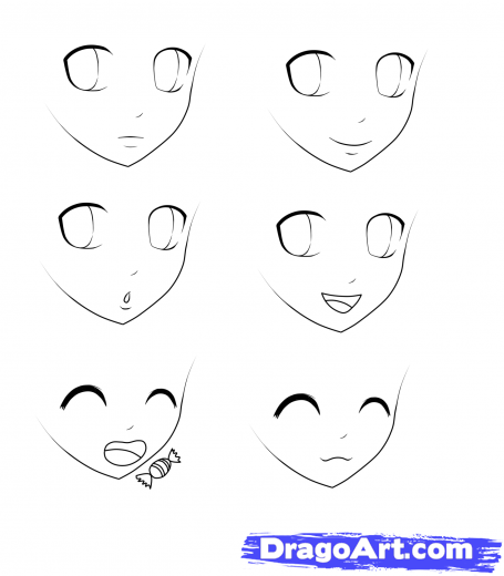 Step 5 How To Draw Anime For Kids Dibujar Caricaturas Dibujos De Ojos Dibujar Ojos De Anime