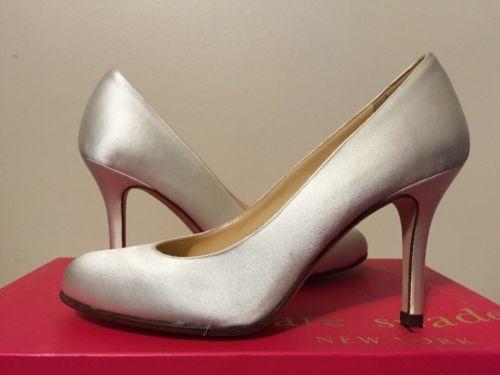 c06860aaeed1 Kate Spade Karolina Women s High Heels Bridal Pumps Shoes Ivory Satin Size  5.5  meta name  viewport content  width device-width