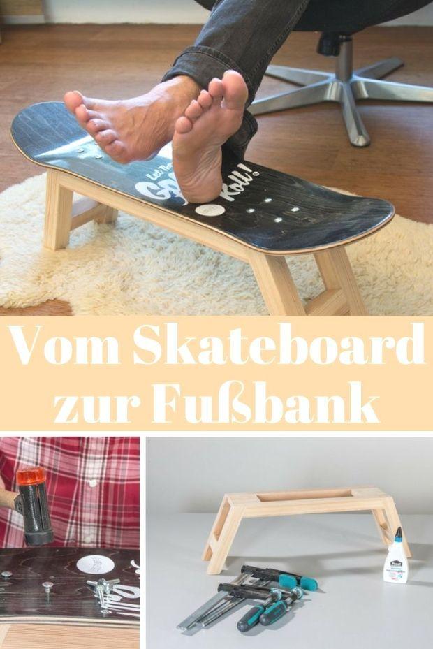 Turngeräte werden zu Sofas und SkateboardDecks zur Fußbank  durch Upcycling lassen sich Gegenstände modifizieren und völlig anders nutzen