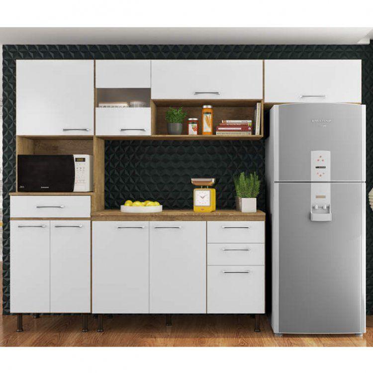 Cozinha Compacta Luma 4 Pecas Com Balcao E Tampo Espresso Moveis