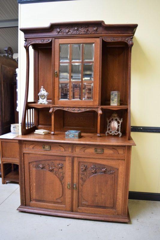 Sensationelles Jugendstil Buffet Art Nouveau Lieferung Moglich Art Nouveau Nouveau Antique Furniture