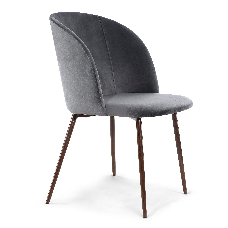 Set Van Eetkamerstoelen.Set Of 2 Kantwell Velvet Dining Chairs Stoelen