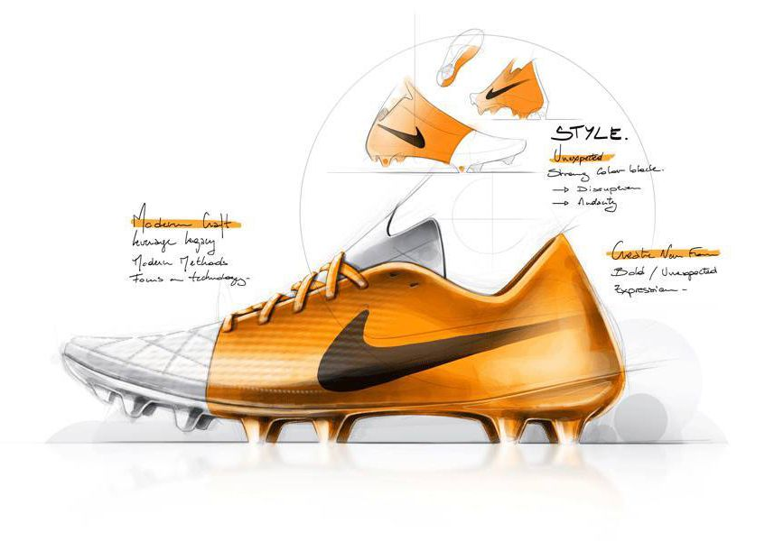 Football boots, Shoe sketches