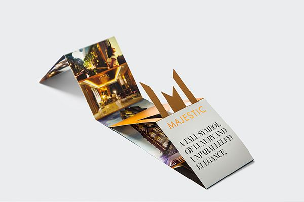 Multi-fold mini brochure design for newspaper inserts for real - studio brochure
