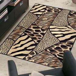 Admire Home Living Virginia Animal Print Area Rug 5 X 7 By