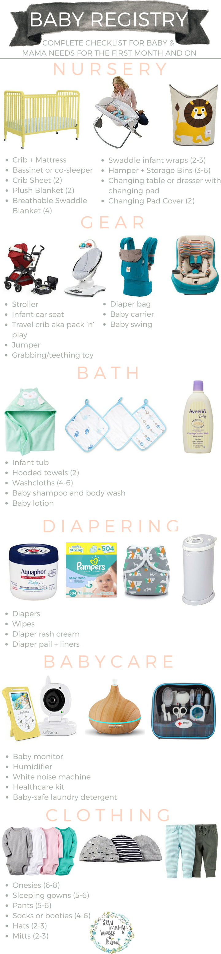 Baby registry checklist for everything mama and baby needs ...
