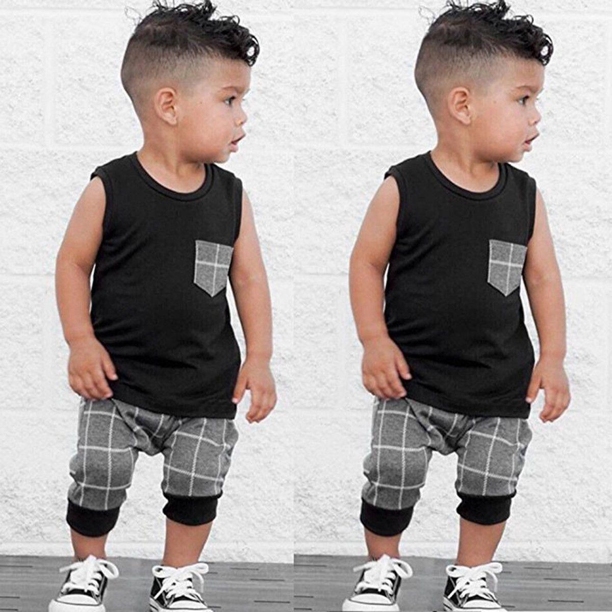bb9e12fca2d1  5.99 - 2Pcs Toddler Kids Baby Boy Summer Clothes T-Shirt Tops+Pants ...