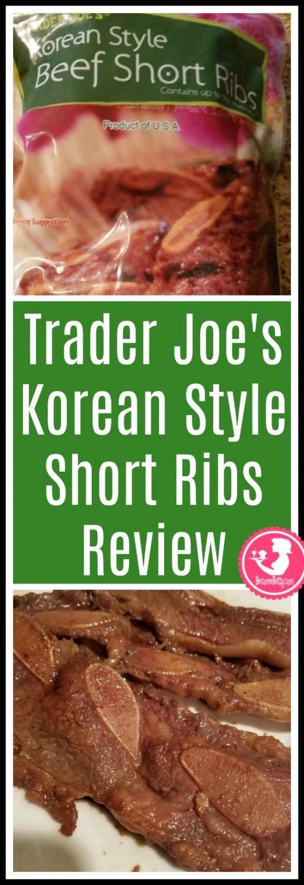 Trader Joe S Korean Style Beef Short Ribs Beef Short Ribs Short Ribs Korean Style Beef