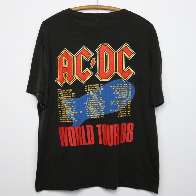 Acdc Heat Seeker World Tour Shirt 1988 Tour Shirt Shirt Design Inspiration Shirts