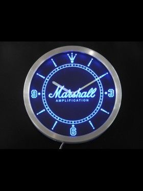 Marshall Amps Neon Led Wall Clock Awesome Signs Led