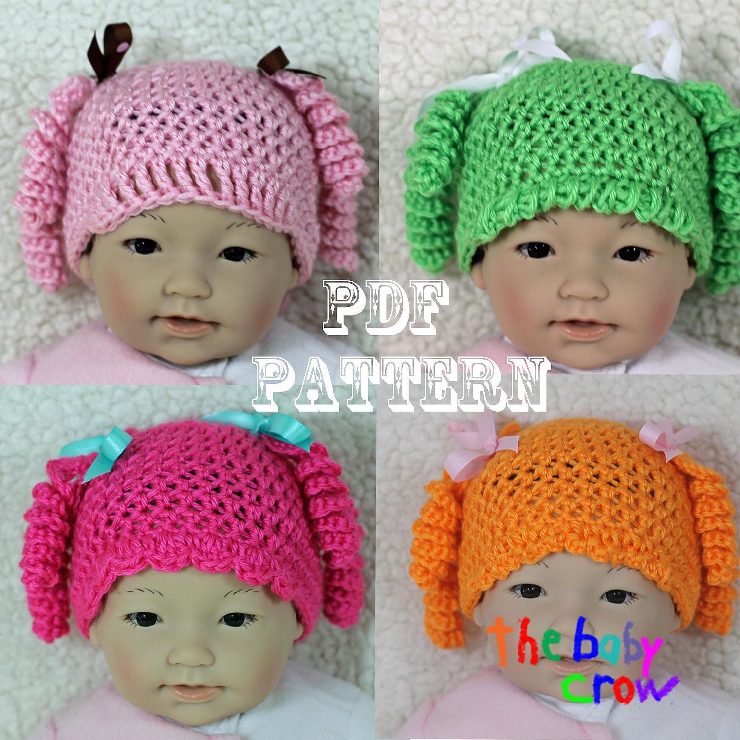 Crochet baby hat pattern cute girls character hat by thebabycrow crochet baby hat pattern cute girls character hat by thebabycrow bankloansurffo Image collections