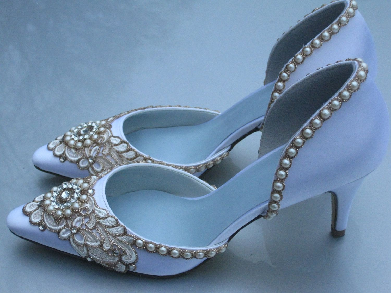 Custom listing for Genevieve - Wreath of Gold Kitten Heel | Gold ...