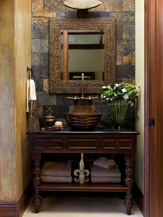22 Eclectic Ideas Of Bathroom Wall Decor: Single Vanity Design Ideas