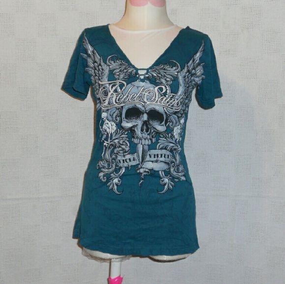 Rebel Saints T-Shirt Nice Teal Green t-shirt. Rebel Saints Tops Tees - Short Sleeve