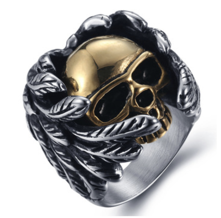 2259f12e75 nice Vintage Style Stainless Steel Men Rings Gothic Skull Hand Claw Poker  Playing Card Design Rings For Men Black Tone anillos hombre … | Men's  Jewelry in ...