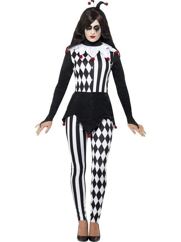 Ladies Halloween Fancy Dress Evil Jester Costume More  sc 1 st  Pinterest & Ladies Halloween Fancy Dress Evil Jester Costume | Evil jester ...