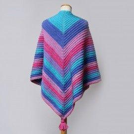 Stickad sjal med rillor Mönster Hobbii  8416251736f83