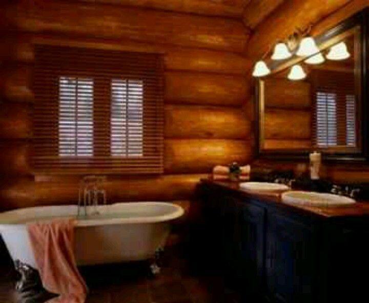 rustic bathroom The Home Pinterest Rustic bathrooms