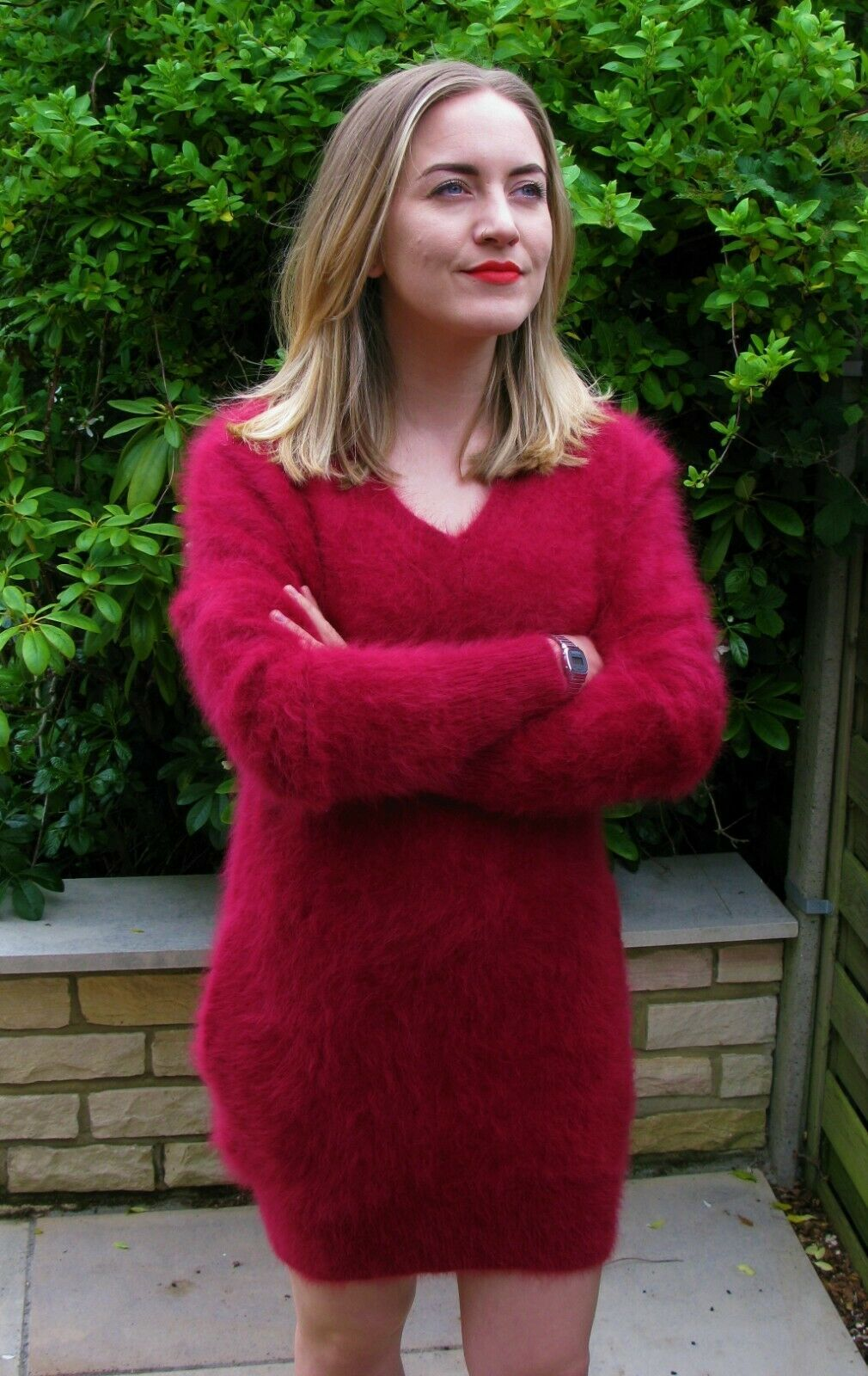 Ladies Luxurious Seductive Soft Fluffy Red Angora Sweater Dress M 34 59 99 Ebay Sweater Dress Angora Sweater Dress Sweaters [ 1600 x 1010 Pixel ]