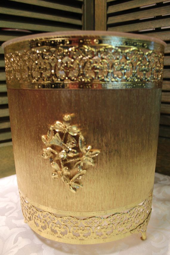 wastebasket Filigree gold
