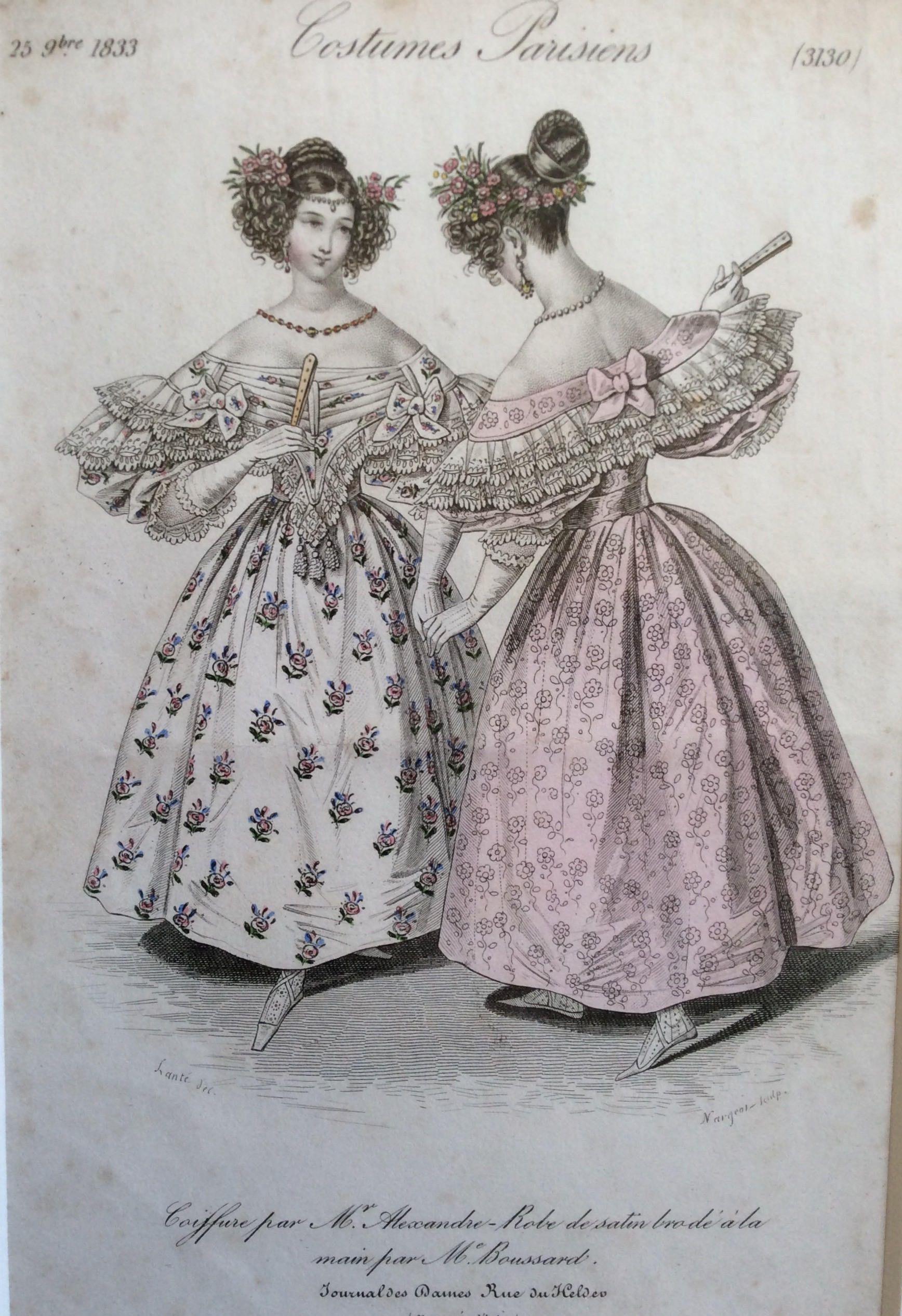 Antique Fashion Prints 19th Century Victorian 1823 Costumes Etsy Fashion Prints 19th Century Fashion Prints